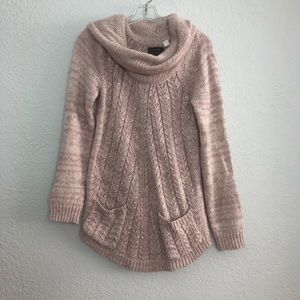 Anthropologie Guinevere Light pink creme sweater